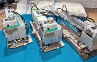 3 phneumatische Crimpwerkzeuge von Hanke